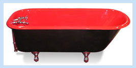 Red Refinished Bathtub