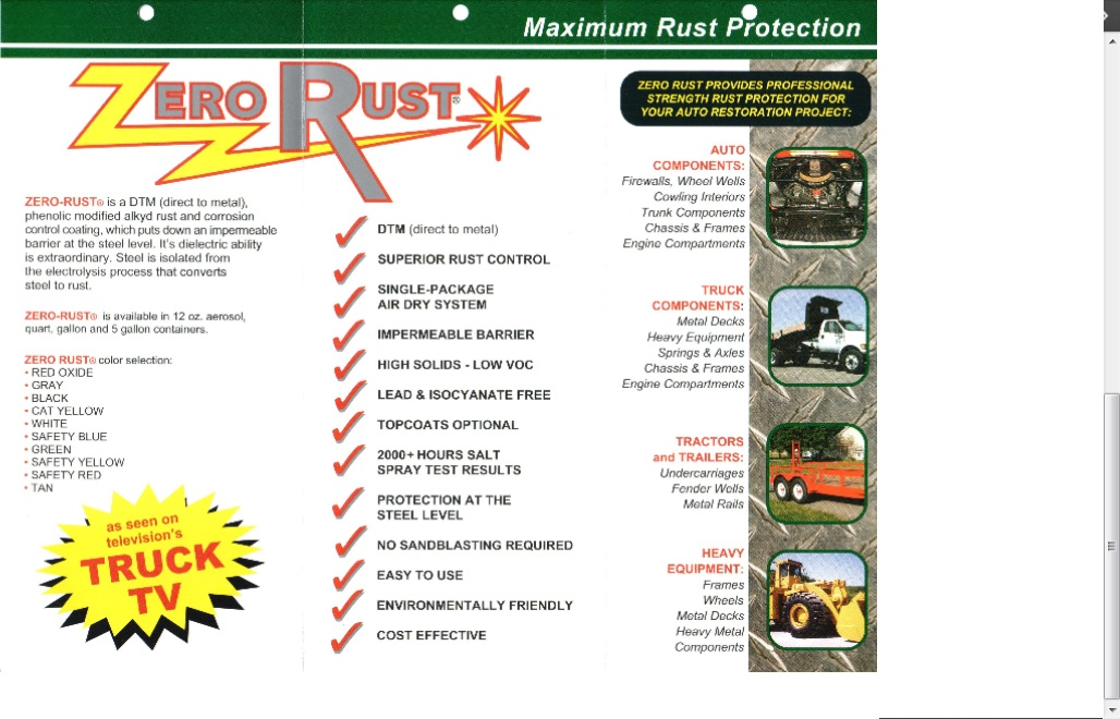 ZERO RUST: Bathtub refinishing, coatings, paint products, supplies ...